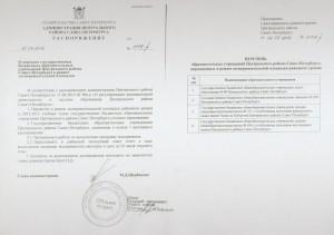 Распоряжение о переводе в режим экспериментальной площадки